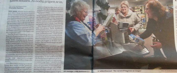 De Albert Heijn in Den Haag gaat op senioren letten
